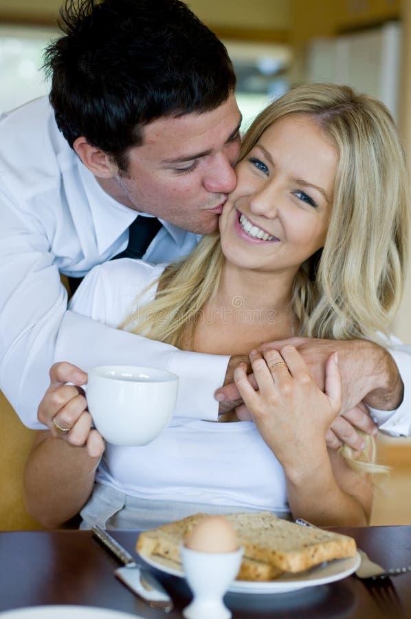 Morgen-Kuss stockbilder