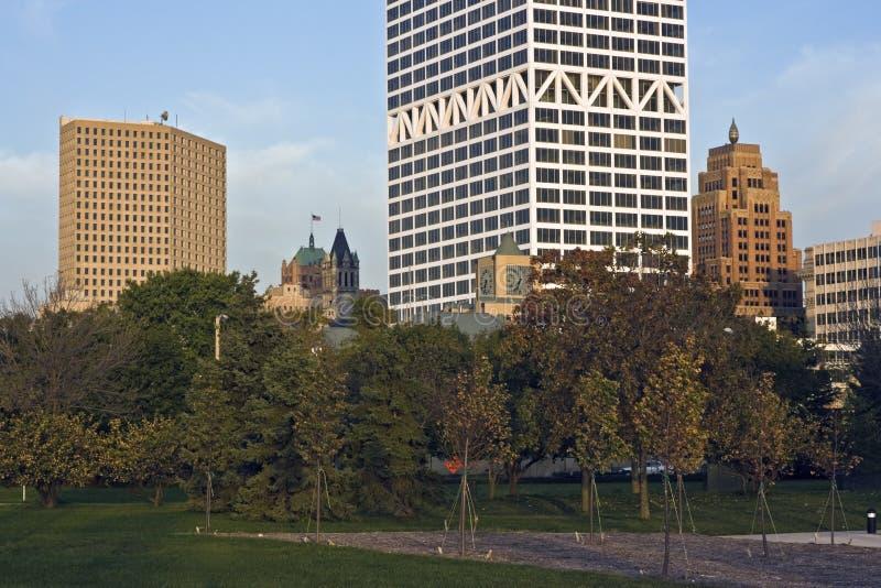 Morgen in Milwaukee lizenzfreie stockfotografie