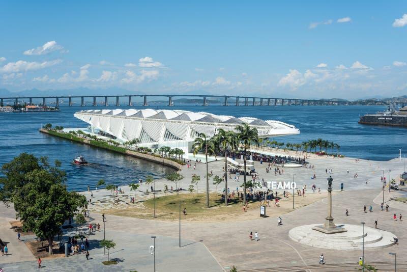 Morgen Museum, entworfen vom spanischen Architekten Santiago Calatrava, in Rio de Janeiro stockbild