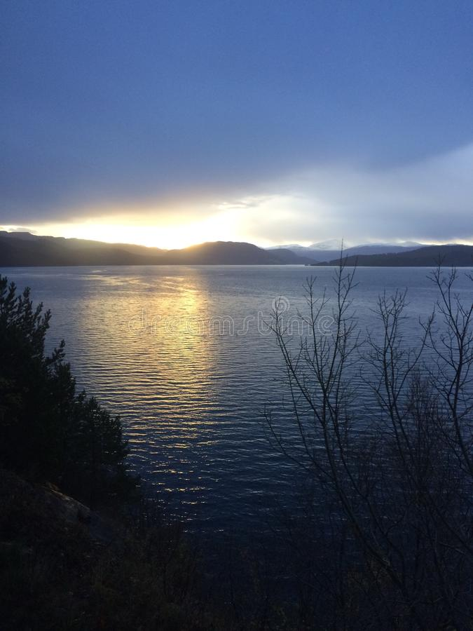 Morgen in Norwegen stockfoto