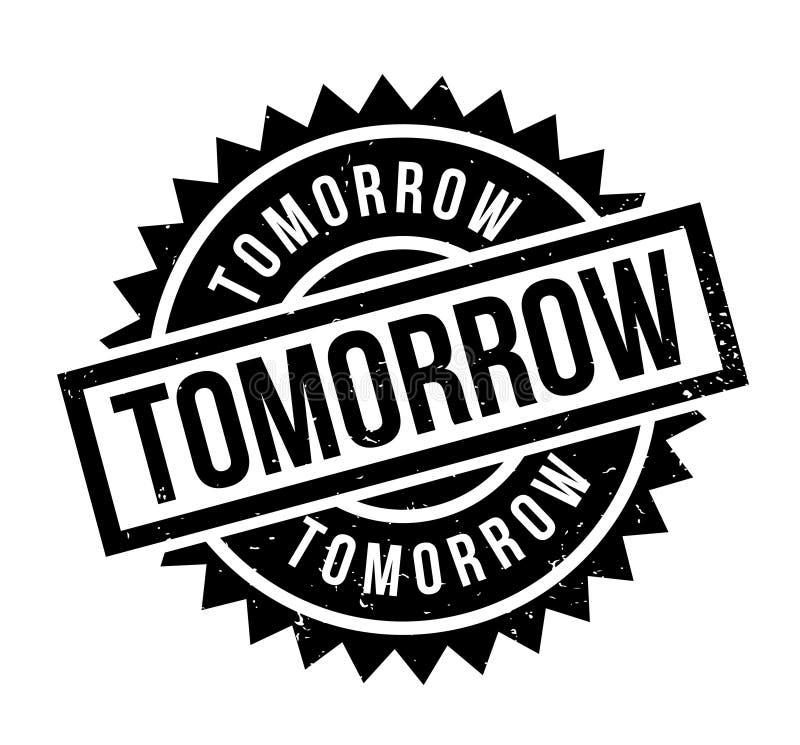 Morgen rubberzegel vector illustratie