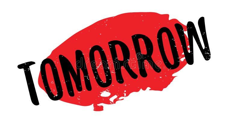 Morgen rubberzegel royalty-vrije illustratie