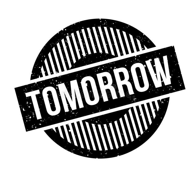 Morgen rubberzegel stock illustratie