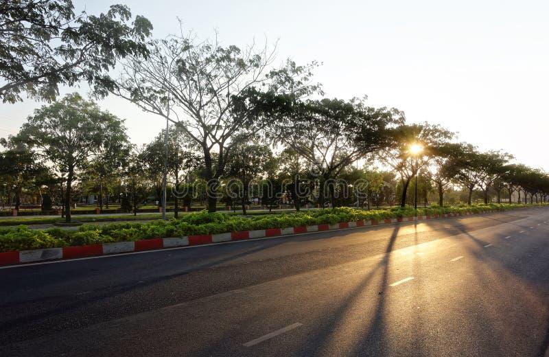 Morgen schoss von ` CMT8 ` Straße - Vietnam lizenzfreie stockbilder