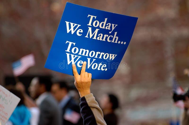 Morgen stemmen wij stock afbeeldingen