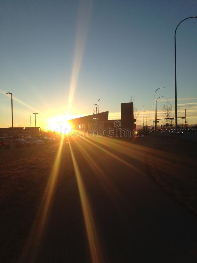 Morgen Sun stockfoto