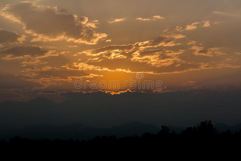 Morgen Sun stockfotografie