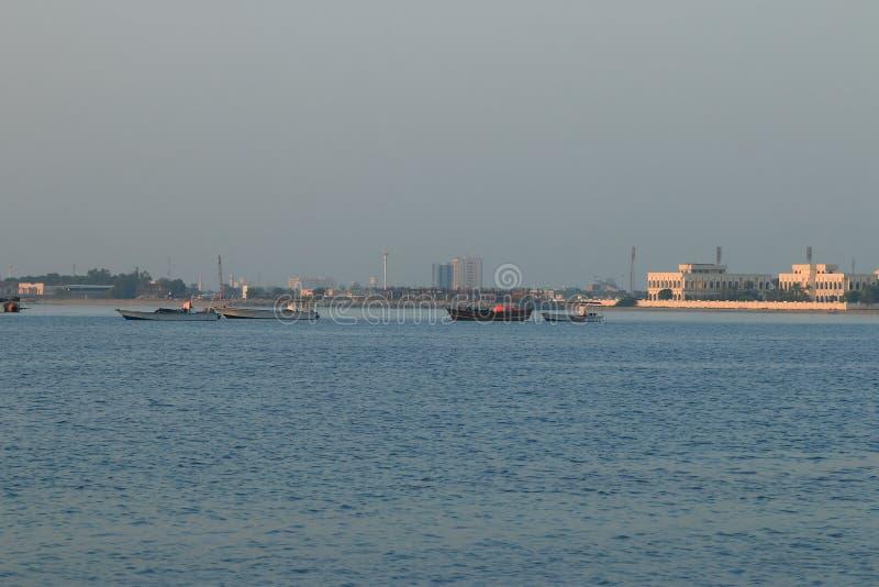 Morgen in Umm al-Quwain lizenzfreie stockbilder