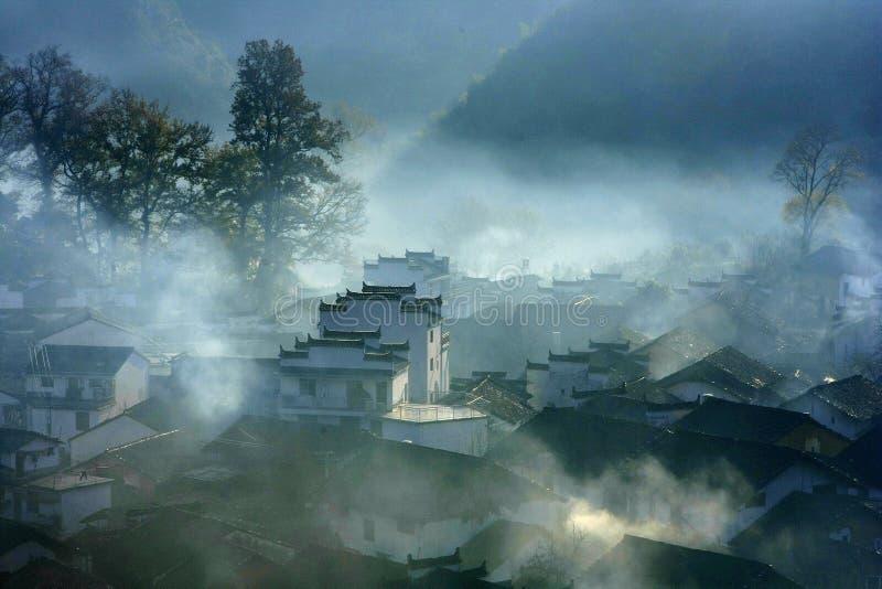 Morgen von Wuyuan stockbilder
