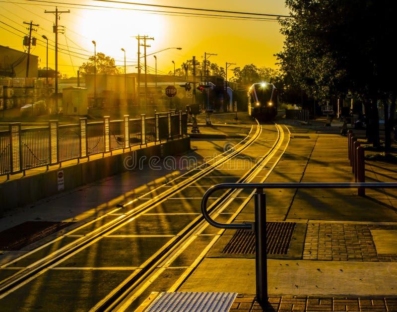 Morgen-Zug stockbild