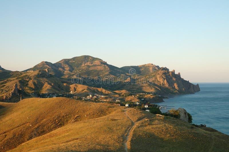 Download Morgenansicht Des Karadag Vorbehaltes Stockbild - Bild von landschaft, felsen: 27730107