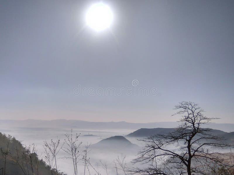 Morgenansicht von Bergen stockfoto