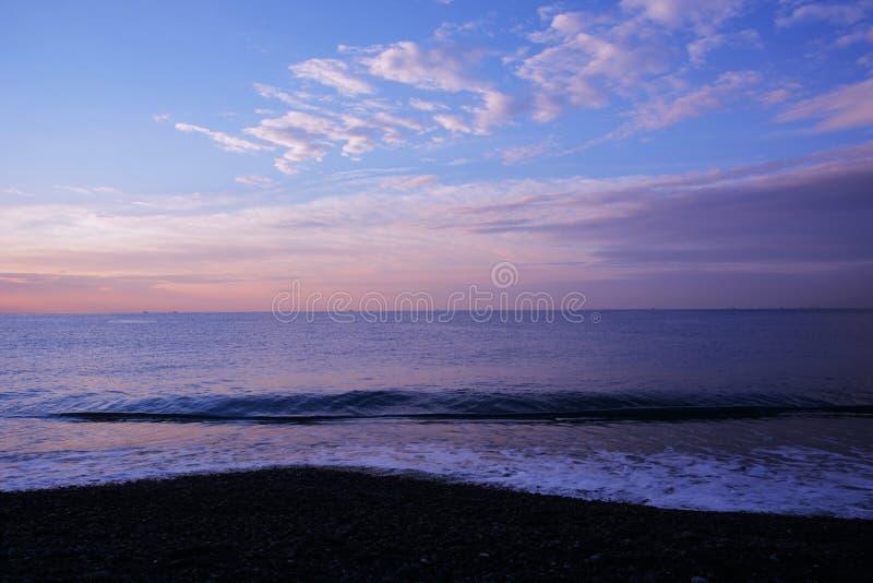 Morgenglühen stockfoto