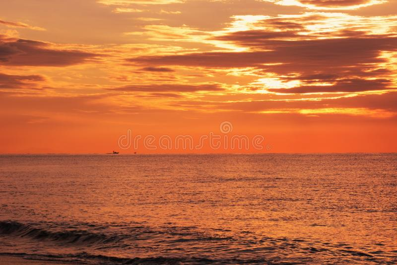 Morgenglühen stockbilder