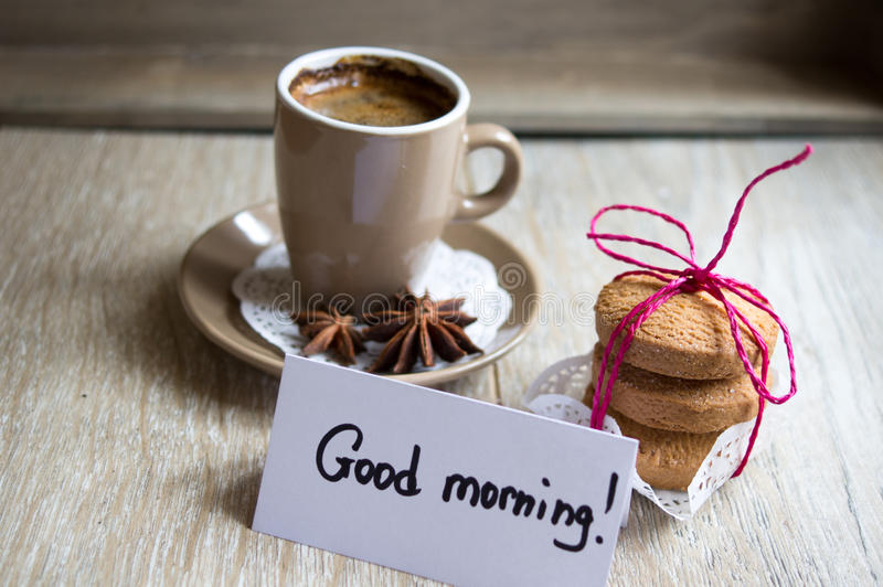 Morgenkaffee stockfoto