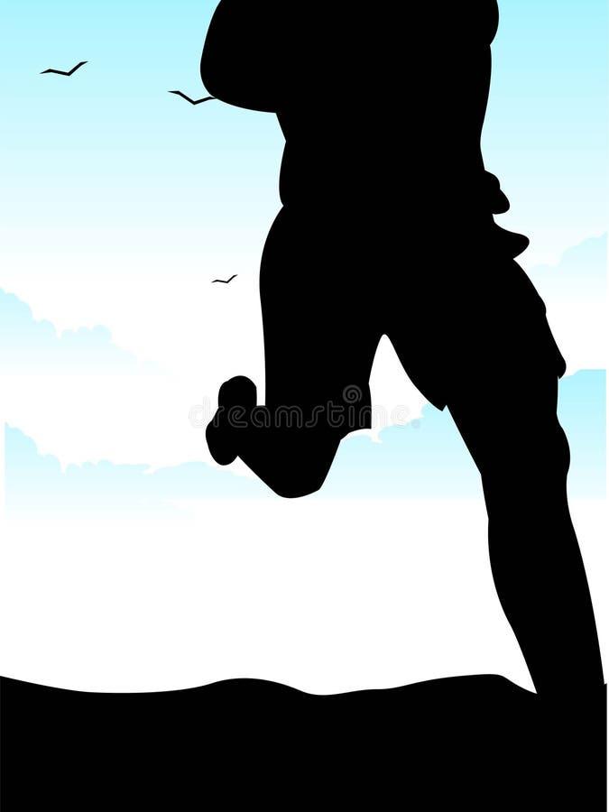 Morgenlack-läufer lizenzfreie abbildung