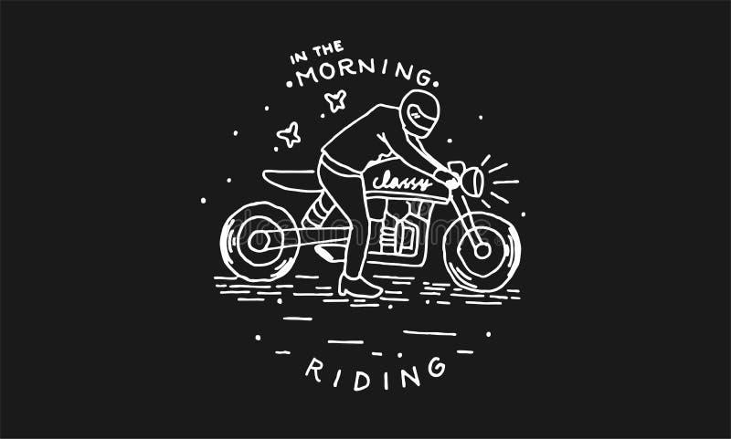 Morgens reiten stockfotografie