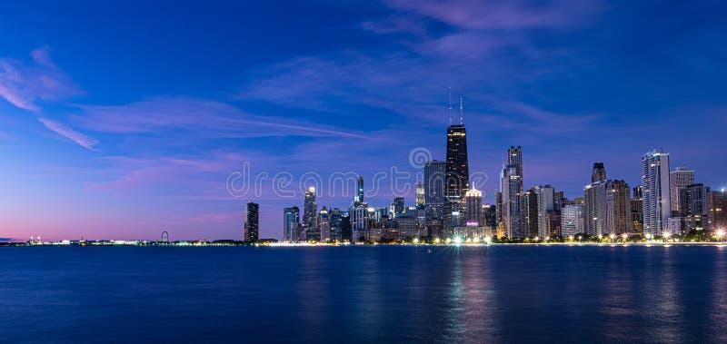 Morgens Sonnenaufgang über Chicago, Illinois lizenzfreie stockfotografie