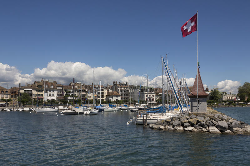 Morges - Zwitserland stock fotografie