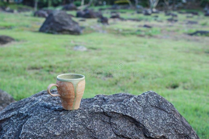 morgon för kaffekopp arkivfoton