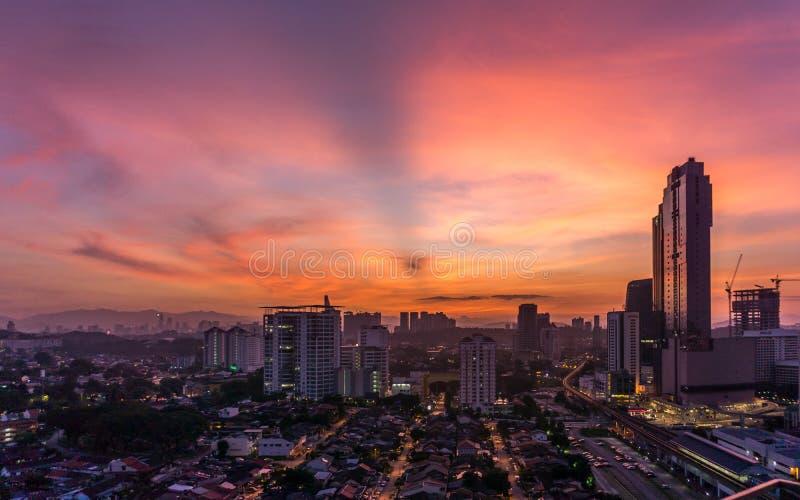 Morgon i Petaling Jaya, Selangor, Malaysia arkivbilder