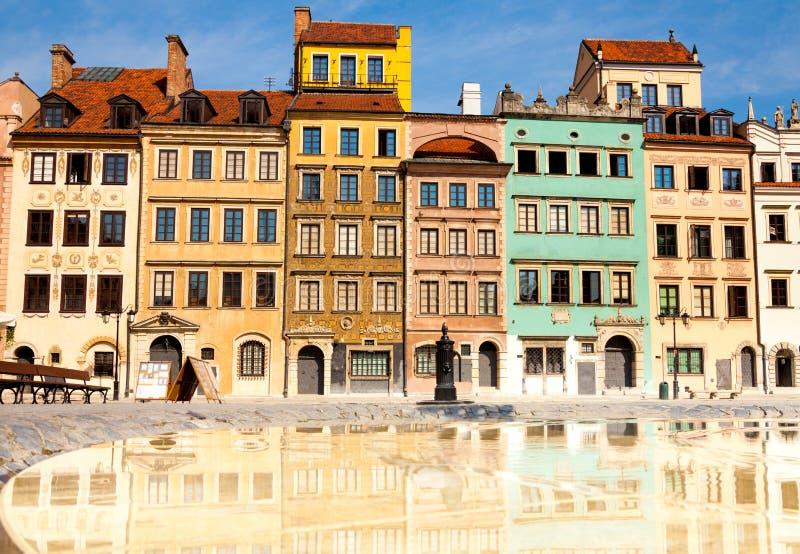 Morgon i Warszawa arkivbild