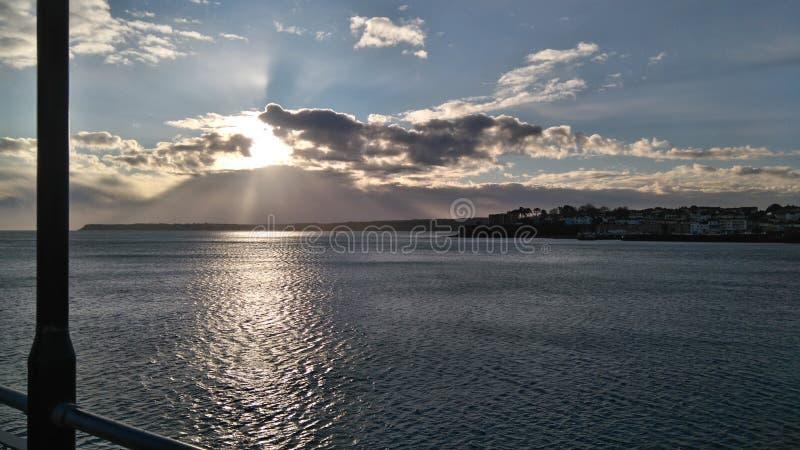 Morgon vid havet arkivbilder