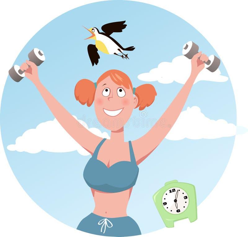 Morgonfågel stock illustrationer