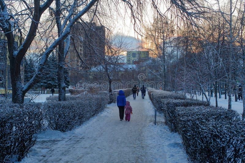 Morgongränden av parkerar namngett efter S S Andreevsky fotografering för bildbyråer