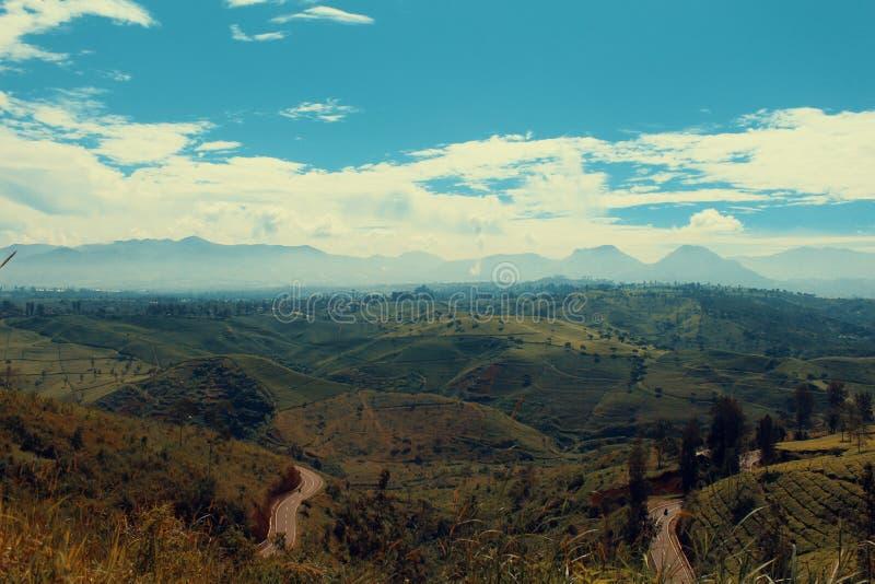 Morgonhärlighet tog jag över kullen i Indonesien arkivfoto