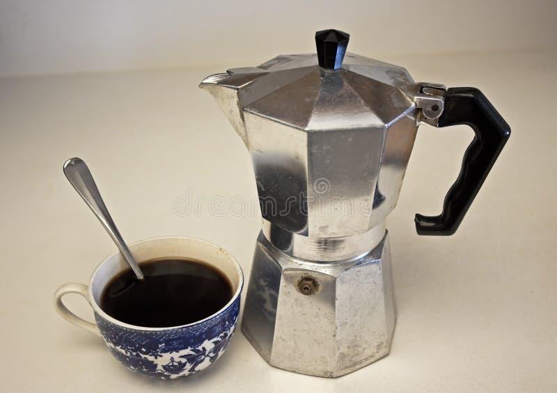 Morgonkaffestilleben royaltyfria bilder