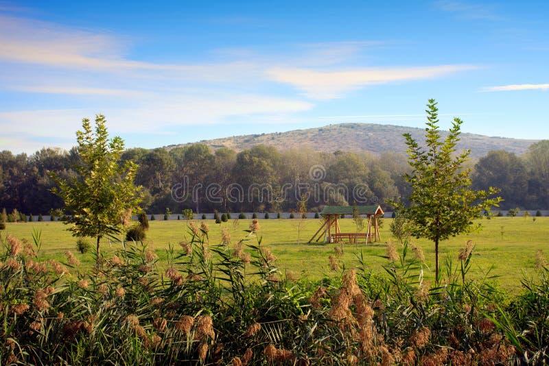 Morgonpark royaltyfria foton