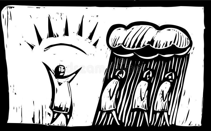 morgonperson royaltyfri illustrationer
