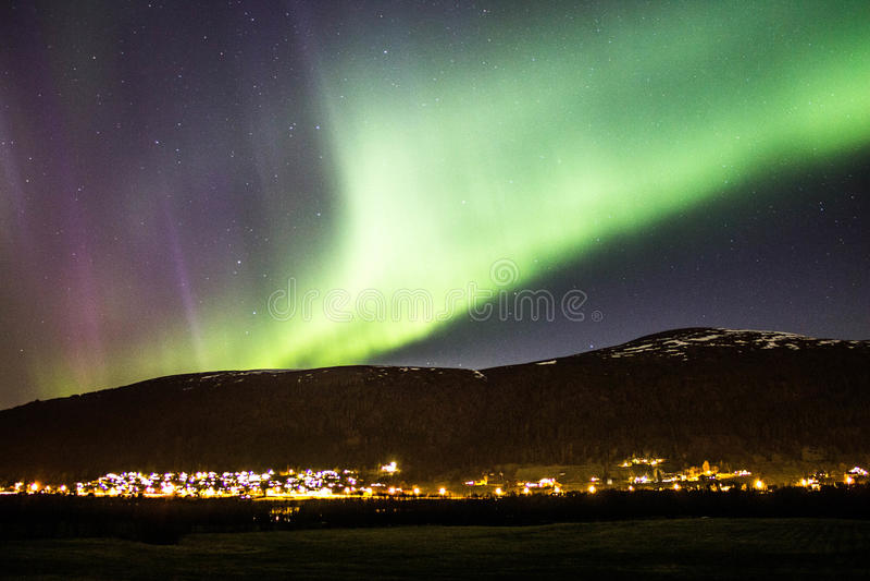 Morgonrodnad i Norge arkivfoton