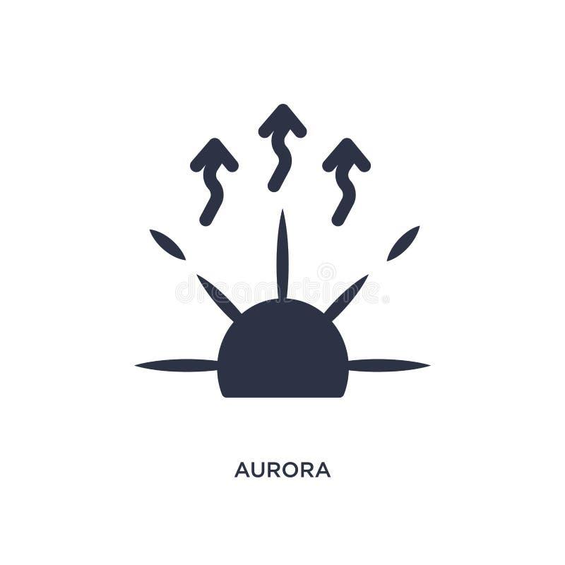 morgonrodnadsymbol på vit bakgrund Enkel beståndsdelillustration från väderbegrepp vektor illustrationer