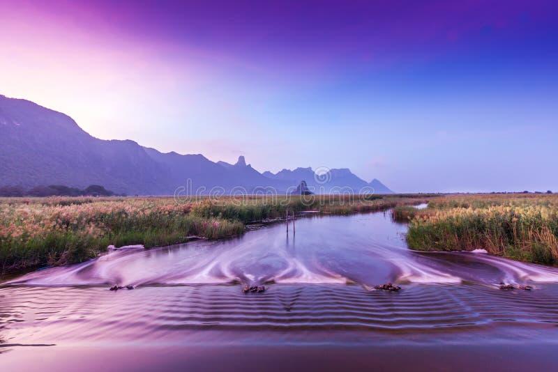 Morgonsikt över berget royaltyfria foton