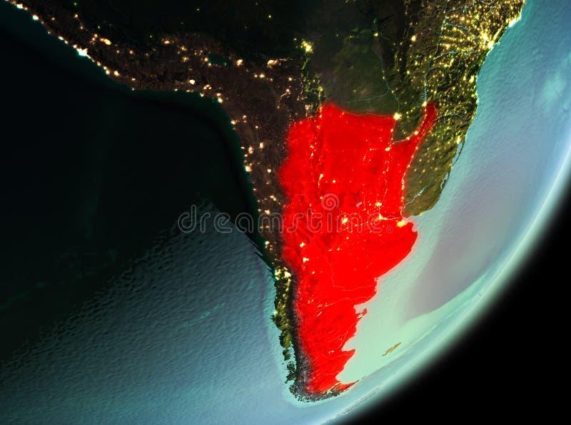 Morgonsikt av Argentina royaltyfri illustrationer