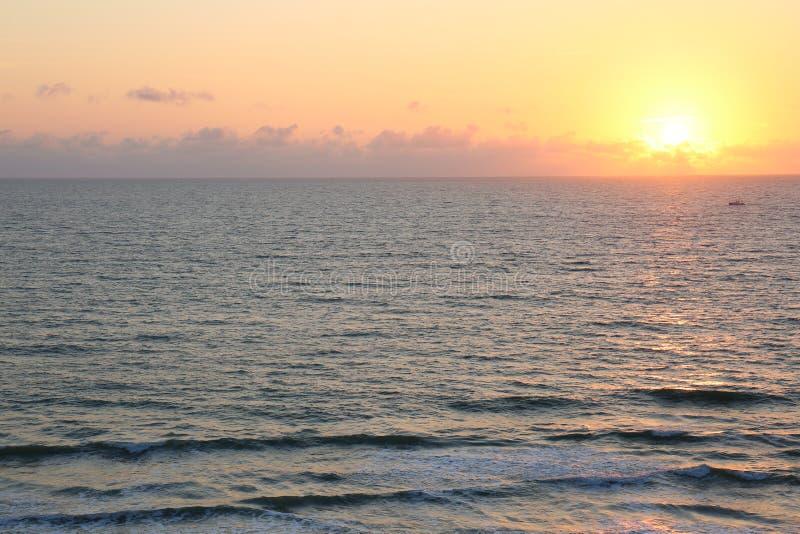 Morgonsoluppgång på Vero Beach Florida arkivfoto