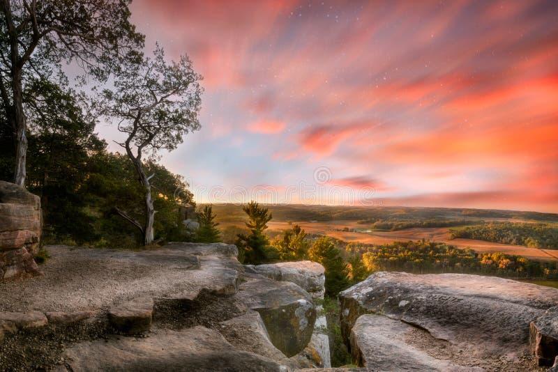 Morgonstjärnor, Lodi, Wisconsin, USA fotografering för bildbyråer