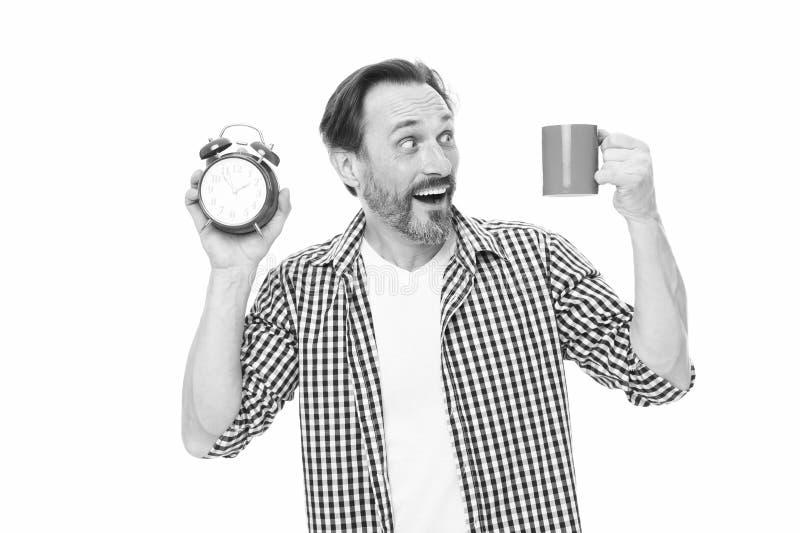Morgonvanor Ta kontroll over tid Kontrollera tid Spetsar f?r sparande tid Sj?lvdisciplin Kontroll och disciplin drink fotografering för bildbyråer