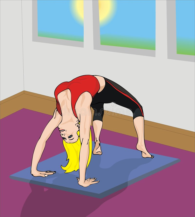 Download Morgonyoga stock illustrationer. Illustration av utbildning - 506488