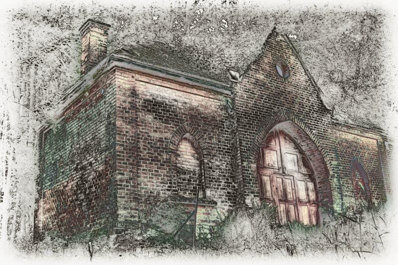 Morgue au vieux cimetière image libre de droits