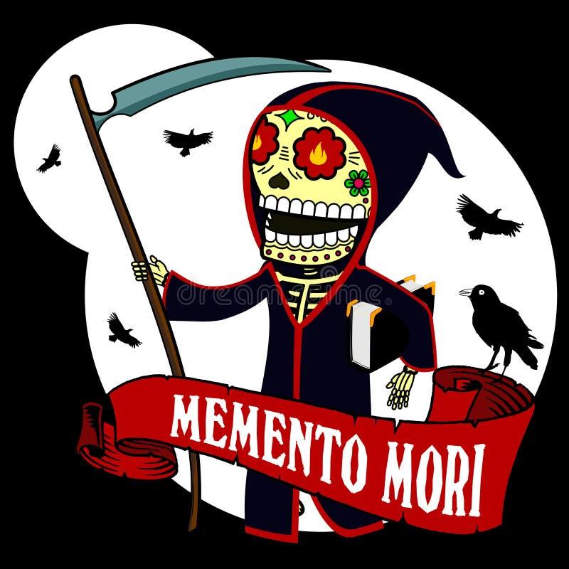 Mori de esqueleto ilustração do vetor