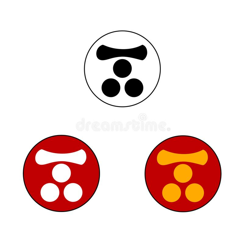 Mori Samurai Crest fotos de stock