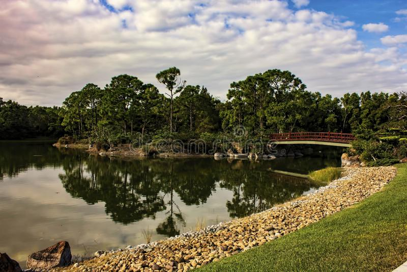 Morikami博物馆和日本庭院德尔雷比奇佛罗里达 免版税库存照片