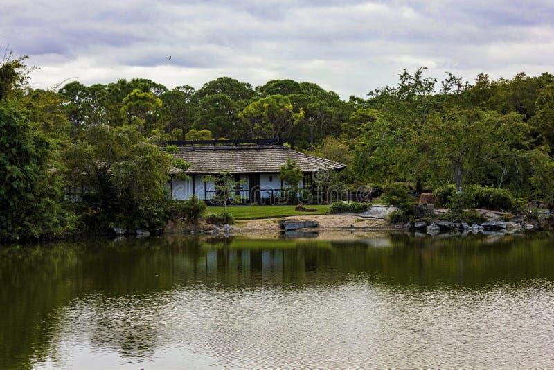 Morikami博物馆和日本庭院德尔雷比奇佛罗里达 库存图片