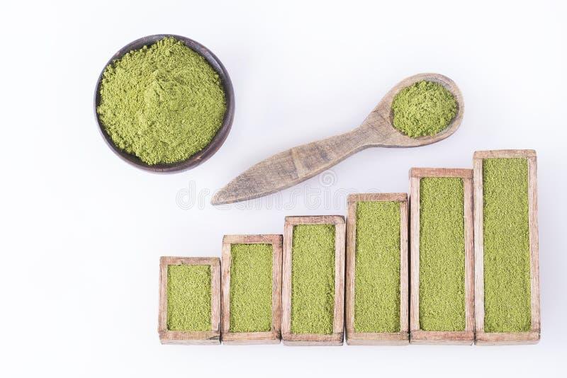 Moringa oleifera - статистическая таблица продажи и потребление moringa Взгляд сверху стоковая фотография