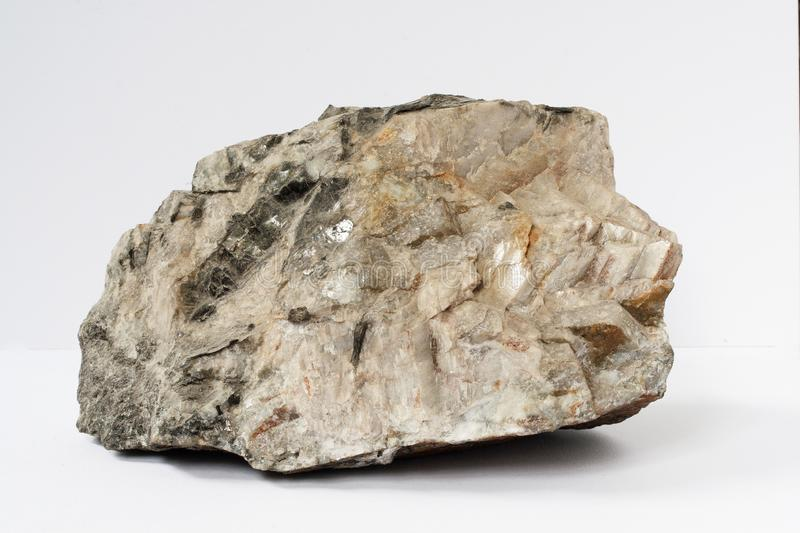 Morion also black variety of quartz mineral on black background royalty free stock photography