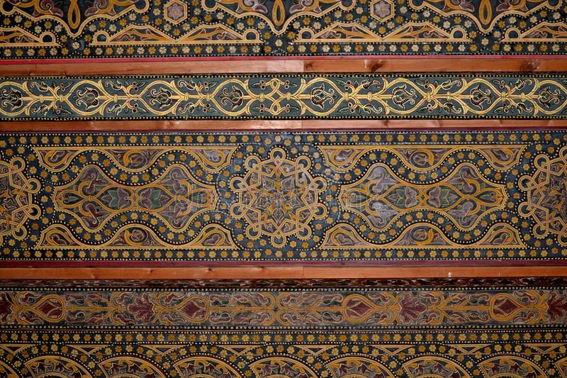 Moriskt tak, Moské-domkyrka av Cordoba. arkivfoton