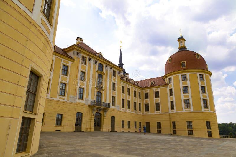 Moritzburg城堡 萨克森,德国 免版税库存照片
